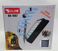 Golon RX-1067 переносная солнечная батарея с LED лампой с входом для зарядки телефона