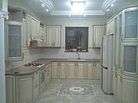 Кухня классика с патинированными фасадами, фото 1