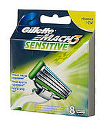 Лезвия для бритвы Gillette Mach3 Sensitive, 8 шт.