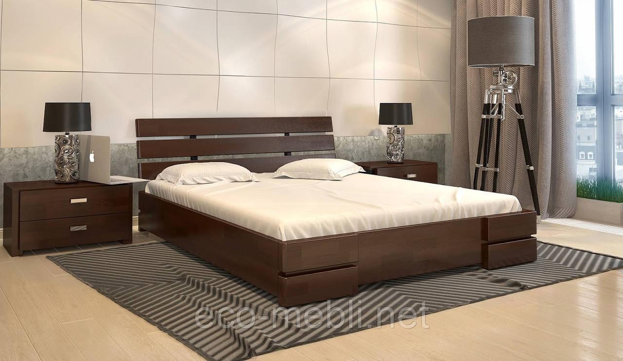 """Двоспальне ліжко ARBOR DREV """"Далі Плюс"""" з 3 накладками (висота 320 + підйомник)"""
