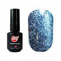 Гель-лак My Nail 9 ml №181 (голубые блестки)