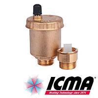 """Icma 707+710 автоматический воздухоотводчик 1/2"""" с запорным клапаном"""