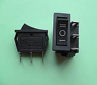 Переключатель клавишный трёхфазный 28,5 * 10,5 мм, узкий