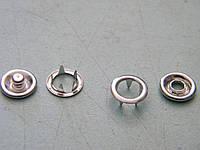 Кнопка трикотажная 9,5 мм (1440 штук) цвет никель