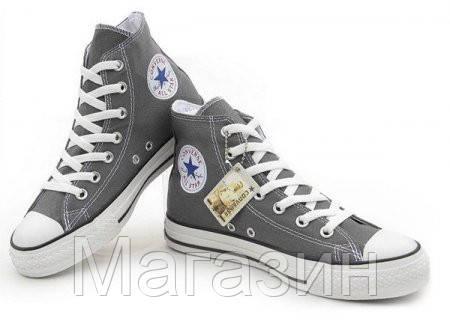 Мужские кеды Converse Chuck Taylor All Star High, высокие кеды конверс Чак Тейлор серые, фото 2