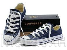 Мужские кеды Converse Chuck Taylor All Star, кеды конверс Чак Тейлор темно-синие, фото 2