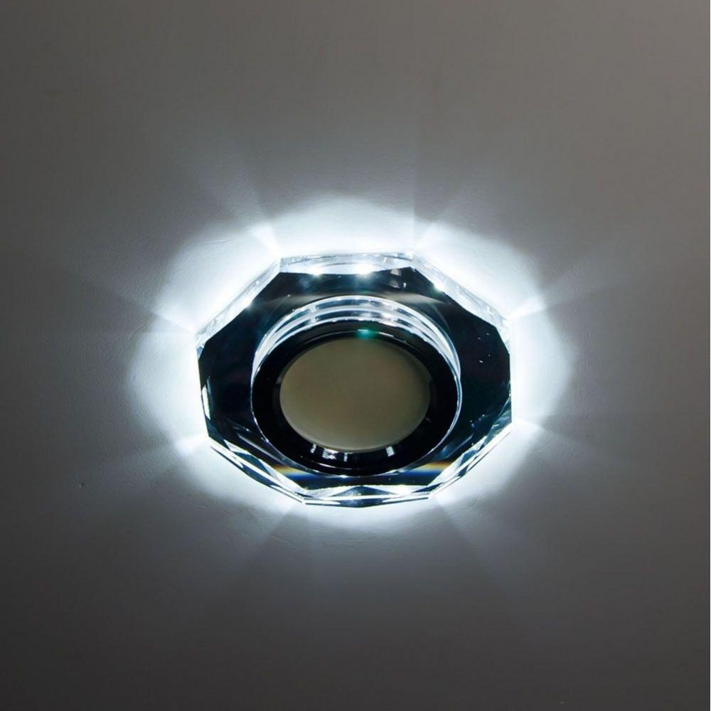 Точечный светильник Feron 8020-2 MR16 с LED подсветкой