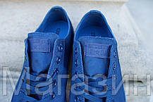 Мужские кеды Converse Chuck Taylor All Star Low Mono Blue Конверс Чак Тейлор Олл Старс синие, фото 3