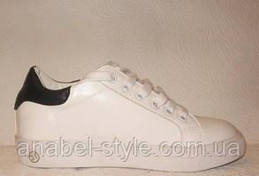 Кеды женские стильные белого цвета, фото 2