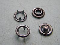 Кнопка трикотажная 9,5 мм (1440 штук) темный никель