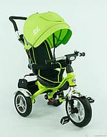 Детский трехколесный велосипед  Best Trike 5388 на надувных колесах, салатовый, фото 1