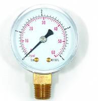 Манометр радиальный 1/4ф.42 0-6 бар EVO