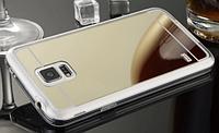 Золотой зеркальный чехол Samsung S5
