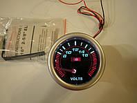 Датчик вольтметр Ket Gauge 52мм чёрный, фото 1