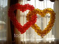 Сердечки из воздушных шаров