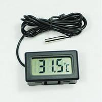 Термометр с выносным датчиком и ЖК дисплеем с батарейкой