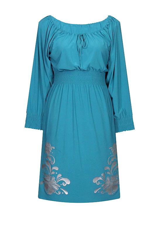 Платье из трикотажа резинка Барвинок