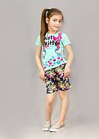 Детские шорты с кармашками,  в цветочек (р 92-116)