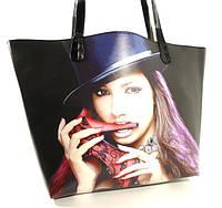 Летняя женская сумка  2 в 1 с клатчем Rose Heart 6609 черная