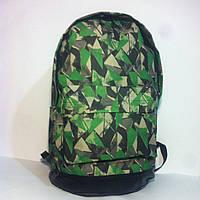 Рюкзак большой с кожаным дном (кождно треугольник)