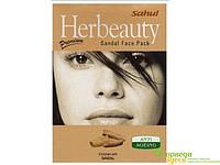 Маска для лица Сандал, 100 грм. Sahul. Сохраняет кожу лица свежей, молодой и очаровательной, убирает морщины