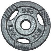 Диск для штанги, металл, порошковая окраска, вес - 1,25 кг