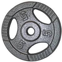 Диск для штанги, металл, порошковая окраска, вес - 5 кг