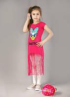 Платье-туника детская малинка   р.2-5 лет