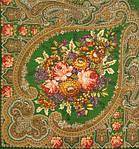 """Платок шерстяной с шелковой бахромой """"Осенние кружева"""", 125х125 см, фото 2"""