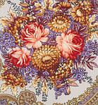 """Платок шерстяной с шелковой бахромой """"Осенние кружева"""", 125х125 см, фото 3"""