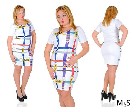 Платье больших размеров рисунок ремни, фото 2