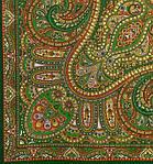 """Платок шерстяной с шелковой бахромой """"Восточный калейдоскоп"""", 125х125 см, фото 3"""