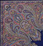 """Платок шерстяной с шелковой бахромой """"Восточный калейдоскоп"""", 125х125 см, фото 2"""