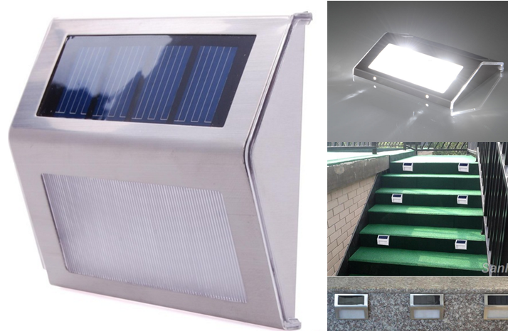 Уличный настенный Светильник на солнечных батареях с датчиком освещенности