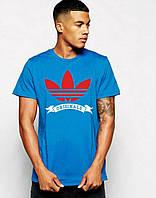 Стильная мужская футболка синяя Adidas Originals
