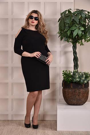 Черное платье-футляр больших размеров 0217, фото 2