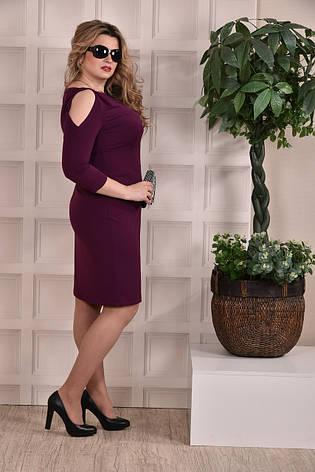 Платье-футляр больших 60+ размеров 0217 слива, фото 2