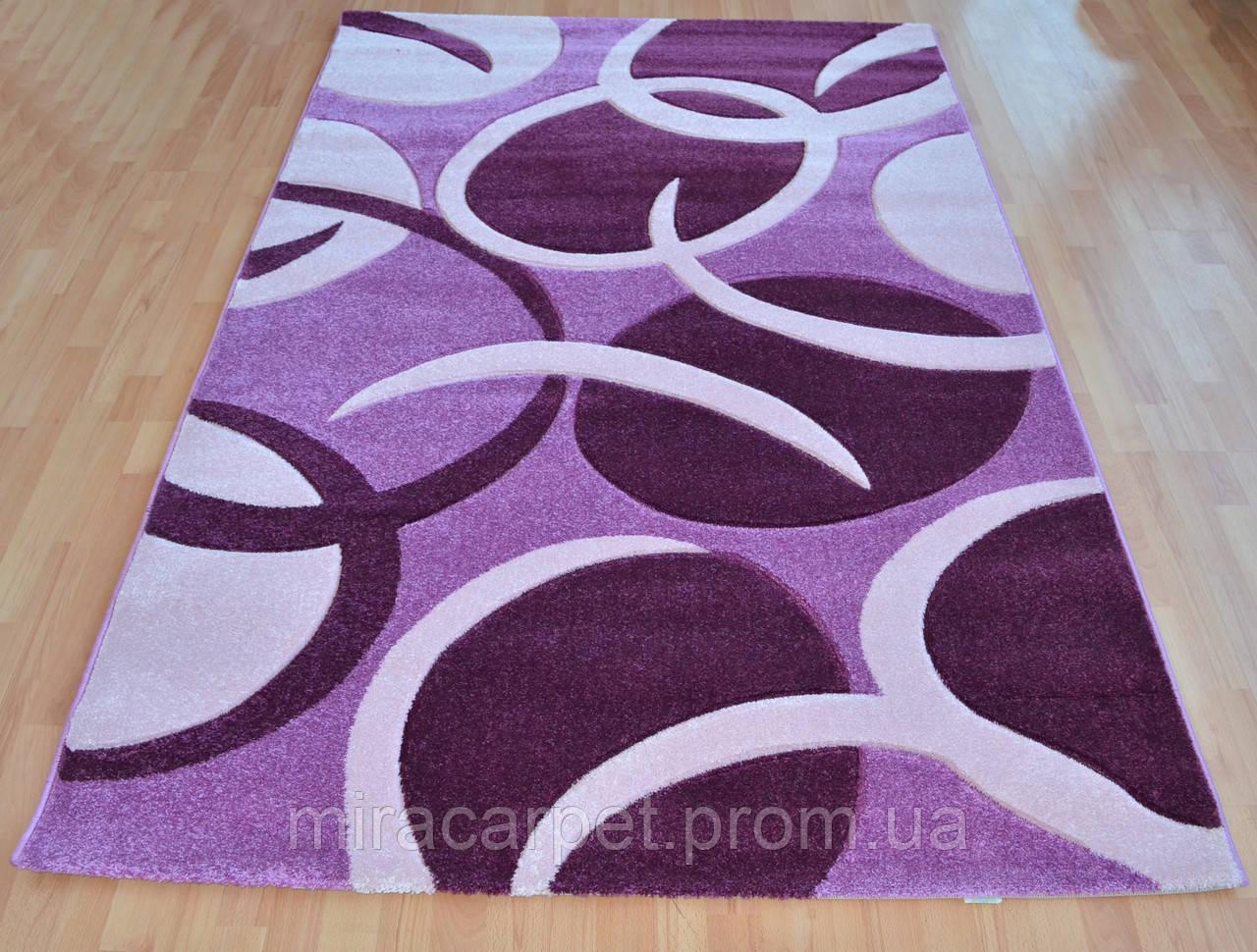 Фиолетовый качественный ковер