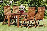 """Дачный комплект мебели """"Cottage"""" (4 стула и стол). Из дерева."""