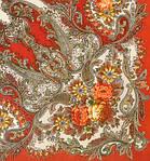 """Платок шерстяной с шелковой бахромой """"Сон бабочки"""", 125х125 см, фото 2"""