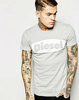 Стильная мужская футболка серая Diesel