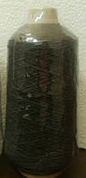 Нитка резинка № 42 черная  400гр Китай