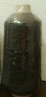 Нитка резинка №63 черная  400гр Китай
