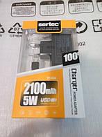 Сетевое зарядное устройство Sertec ST-034 с разъёмом microUSB