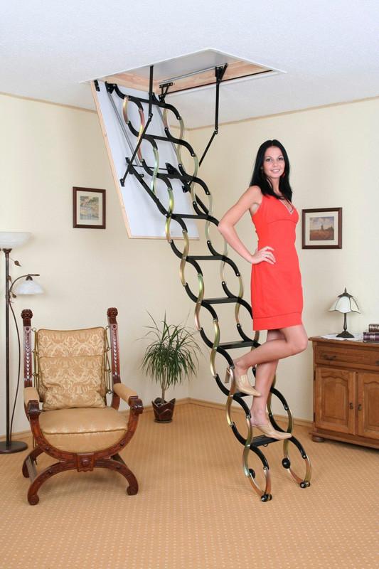 Чердачная лестница Oman Nozycowe FLEX TERMO  110 х 60 см