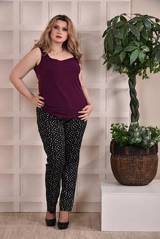 Летние брюки больших размеров 010 черные 48-74, фото 2