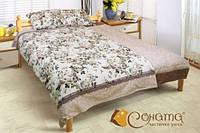 Постельное белье Соната Лисана бязь, двуспальный евро комплект