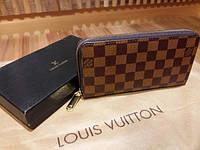 Кошелек Louis Vuitton Люкс коричневый в клетку
