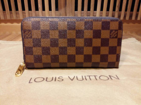 Кошелек Louis Vuitton Люкс коричневый в клетку в коробке, фото 3