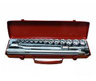 """Набор Force 4161-7, инструмента из 16 предметов 1/2"""" в кейсе, головки Surface"""
